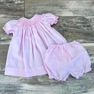 Petit Ami Pink Smock Dress